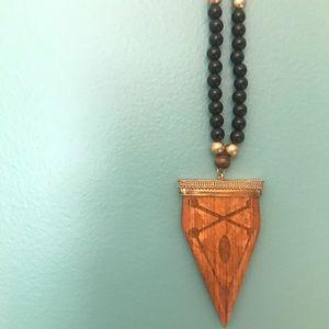 A beaded arrow necklace